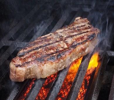steak grillé mariné au vin